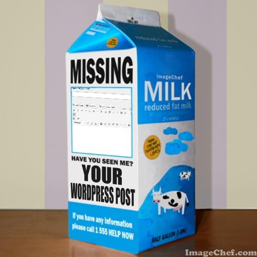 Missing WordPress Post