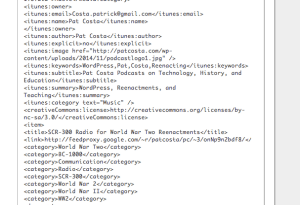 XML File created by SmartCast feature in FeedBurner