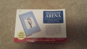 Legacy Project Armed Services Edition Book: Man in the Arena