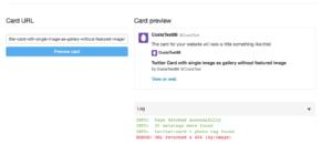 Single Image as Gallery Twitter Card Error