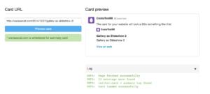 WordPress Gallery as Slideshow displayed as Summary Card in Twitter