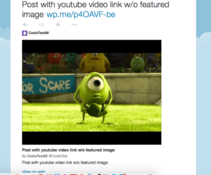 WordPress YouTube embed and Twitter Card