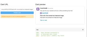 WordPress Vine embed as Summary Twitter Card