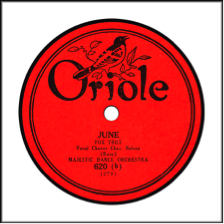 Record Label: 1924-1927. Orange and black.