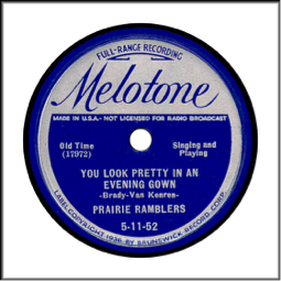 Record Label: 1936-1938: Back to original blue and silver