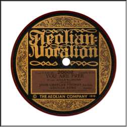 Record Label: Aug. 1920. Red Record color.