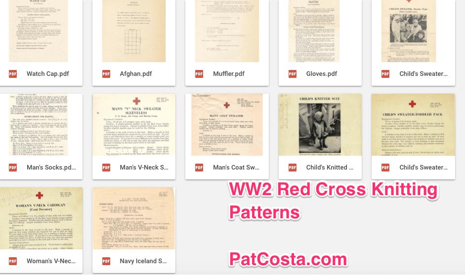 WW2 Red Cross Knitting Patterns